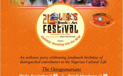 2019 LAGOS BOOK & ART FESTIVAL PARTY HONOURS EMINENT CULTURE WORKERS